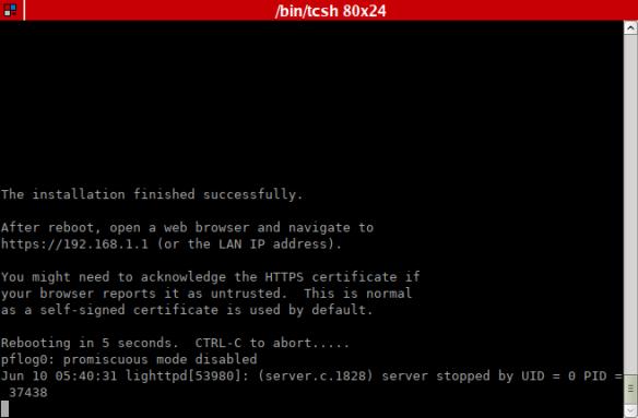 Building a BSD home router (pt  5): Installing OPNsense